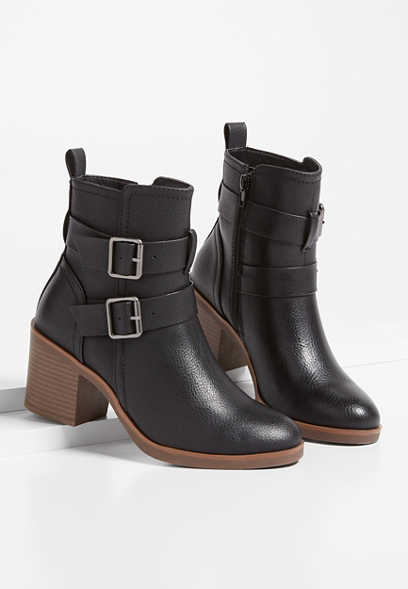Annie Double Buckle Ankle Bootie