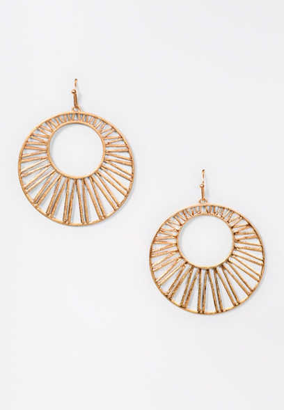 Gold Geo Hoop Earrings