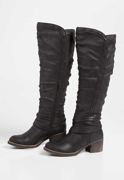 Eden Wide Calf Ankle Wrap Tall Boot