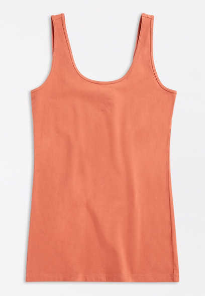 Plus Size Scoop Neck Layering Tank