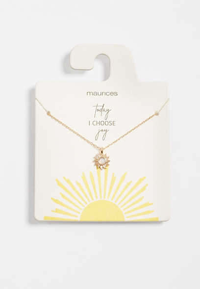 Dainty Sun Necklace