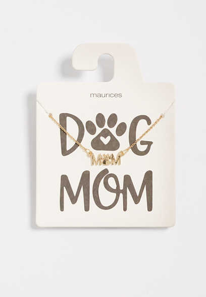Dainty Dog Mom Necklace