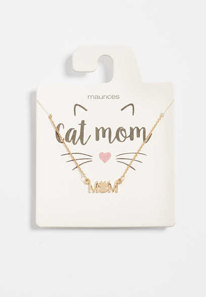 Dainty Cat Mom Necklace