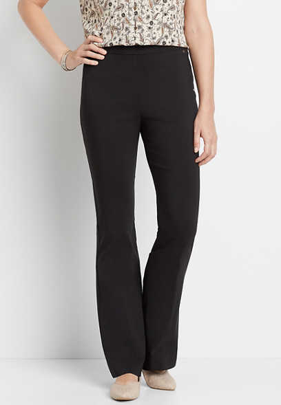 Ultra High Rise Black Bengaline Flare Pant