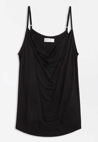 24/7 Solid Cowl Neck Tank Top