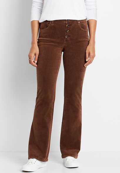 Maurices High Rise Button Fly Corduroy Flare Pant