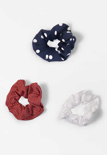 3 Pack Americana Scrunchie Set