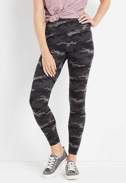 High Rise Camo Active Full Length Legging