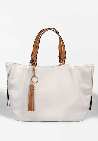 Cream Canvas Tote Bag