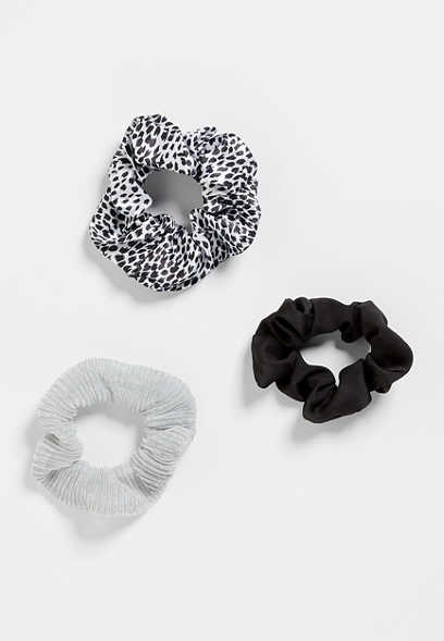 3 Pack Animal Print Scrunchie Set