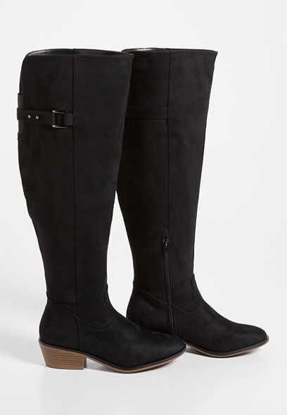 Emily Wide Calf Buckle Tall Riding Boot