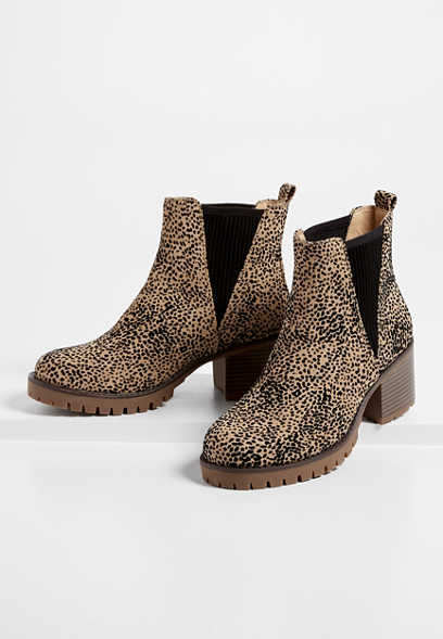 Adrianne Leopard Ankle Bootie