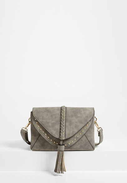 Braided Stud Crossbody Bag
