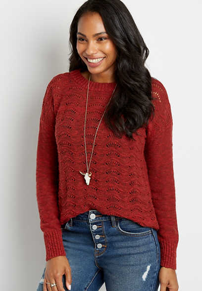 Wavestitch Pullover Sweater