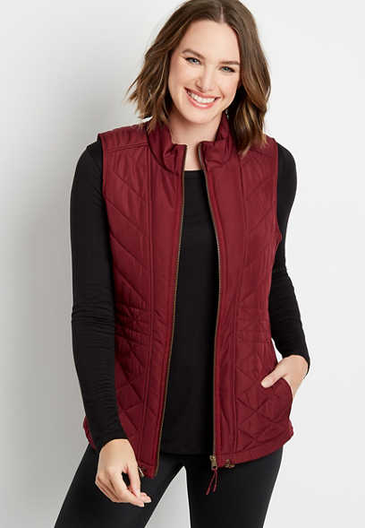 Berry Zip Up Vest