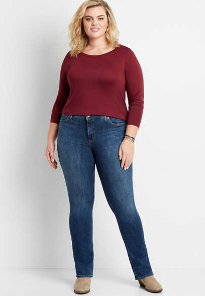 Plus Size Silver Jeans Co.® Most Wanted Dark Wash Bootcut Jean