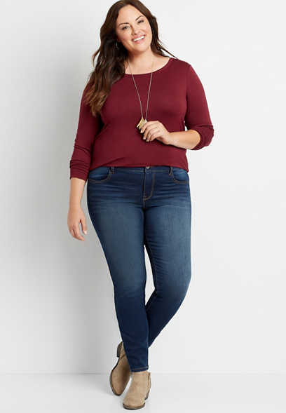 Plus Size DenimFlex™ Dark Wash Super Soft Jegging