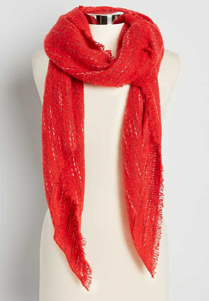 Red Oblong Scarf
