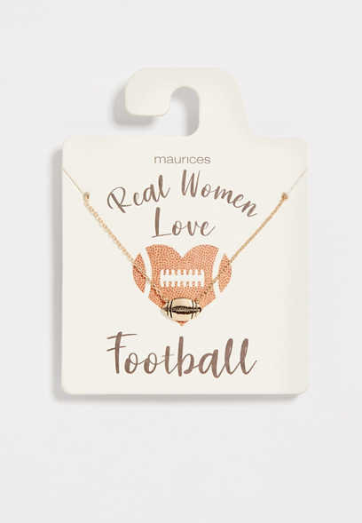 Dainty Football Necklace
