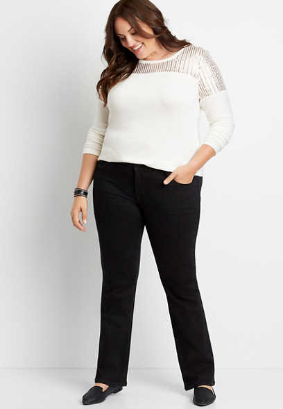 Plus Size m jeans by maurices™ Black Slim Boot Jean
