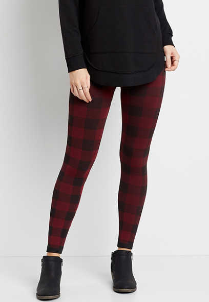 Buffalo Plaid Fleece Lined Legging