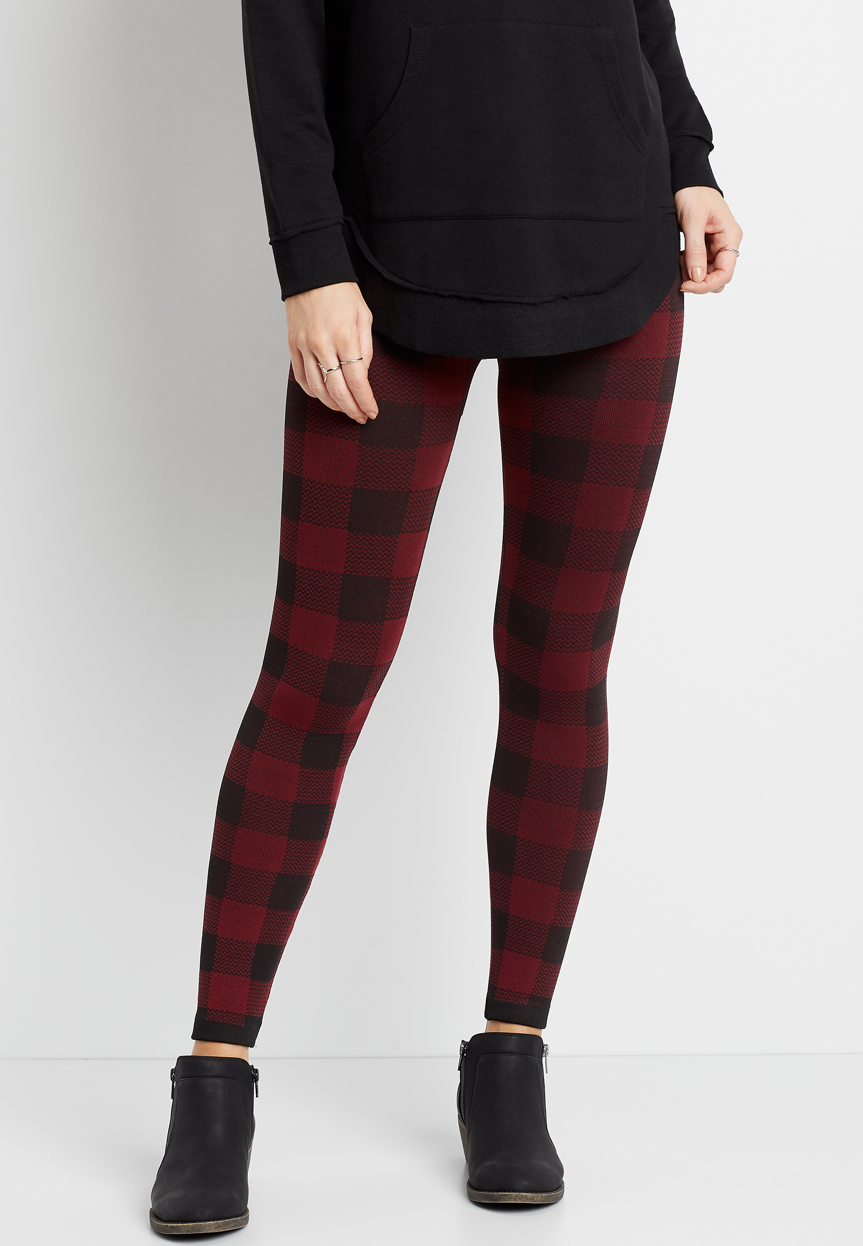 Maurices Buffalo Plaid Fleece Lined Legging