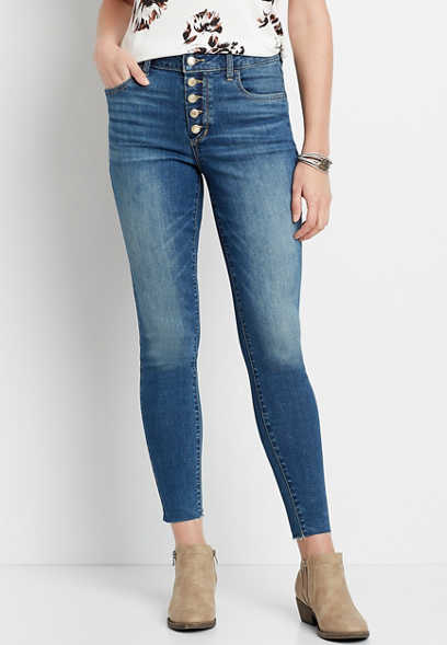 DenimFlex™ High Rise Dark Button Fly Jegging