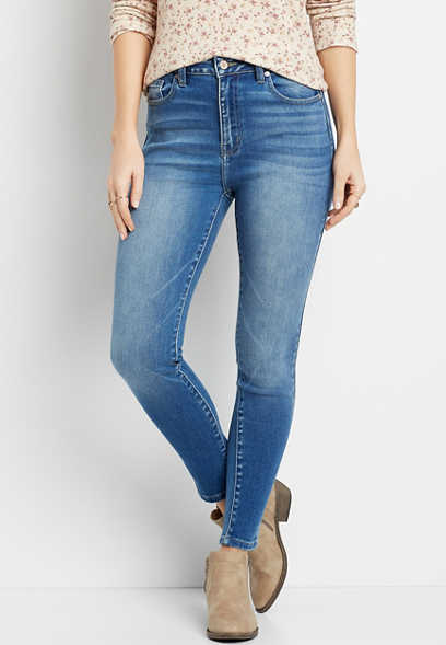 KanCan™ High Rise Curvy Medium Wash Skinny Jean