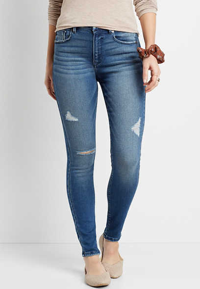 KanCan™ High Rise Curvy Acid Wash Skinny Jean