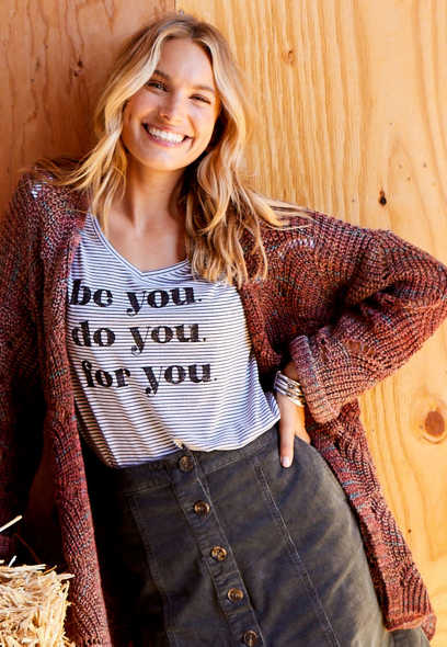 Stripe Be You Do You For You Graphic Tee