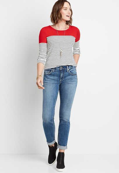 Maurices Silver Jeans Co Medium Wash Boyfriend Jean
