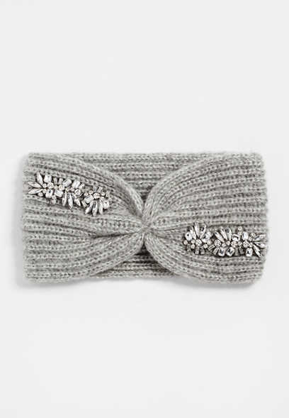 Gray Bedazzled Headband