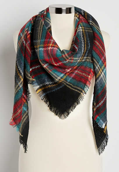 Tartan Plaid Triangle Scarf