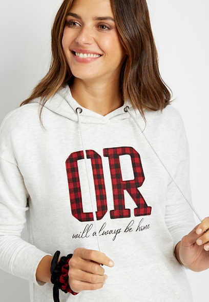 Buffalo Plaid Oregon State Pullover Hoodie