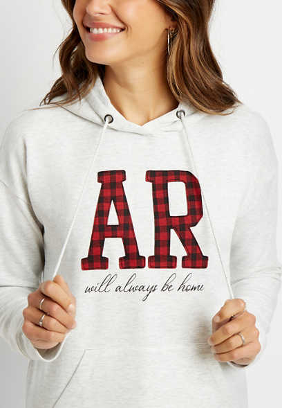 Buffalo Plaid Arkansas State Pullover Hoodie
