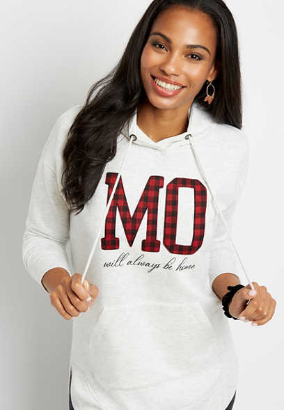 Buffalo Plaid Missouri State Pullover Hoodie