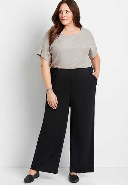 Plus Size Shimmer Top Short Sleeve Pocket Jumpsuit