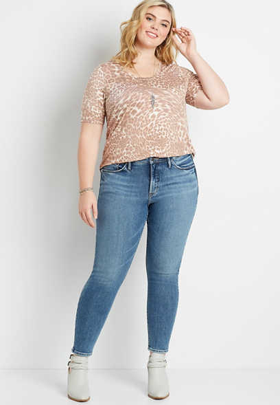 Plus Size Silver Jeans Co.® Most Wanted Dark Wash Skinny Jean