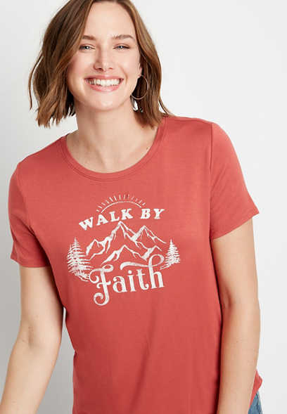 Terracotta Walk By Faith Graphic Tee