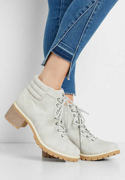 Morgan Gray Lace Up Hiker Boot