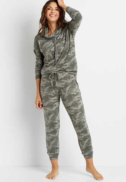Camo Super Soft Cozy Jogger Pant