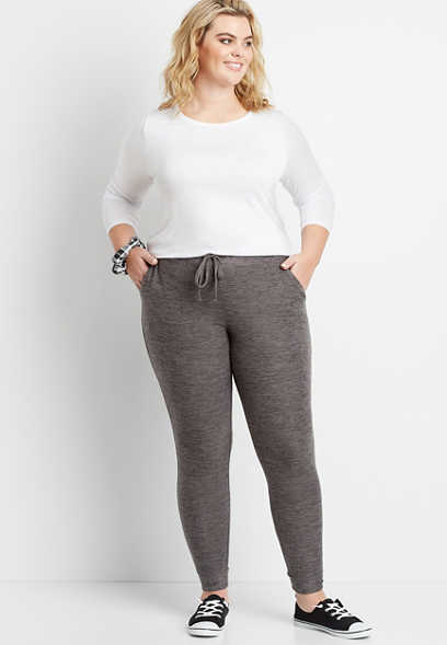 Plus Size Gray Super Soft Cozy Jogger Pant