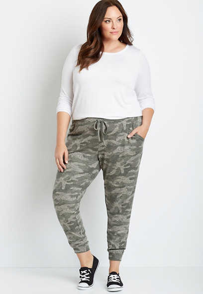 Plus Size Camo Super Soft Cozy Jogger Pant