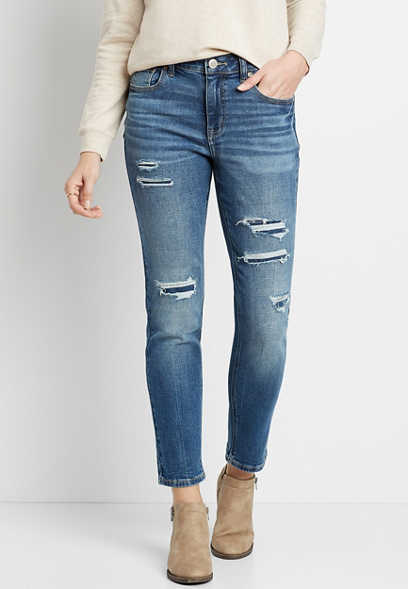 Maurices Vintage High Rise Slim Straight Leg Women's Jeans