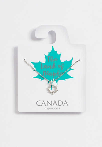 Dainty Silver Canada Necklace
