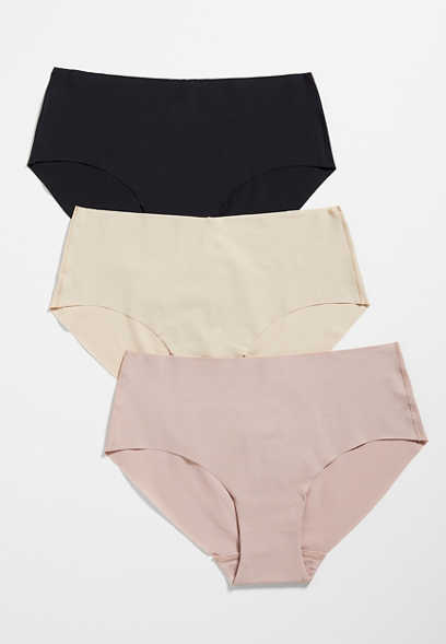 3 Pack Neutral Hipster Seamless Panties