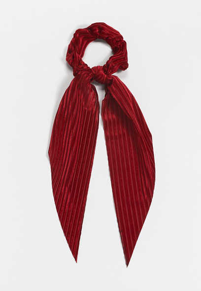 Red Velvet Scrunchie Scarf
