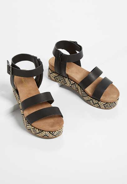 Maurices Fergie Black Platform Gladiator Women's Sandal