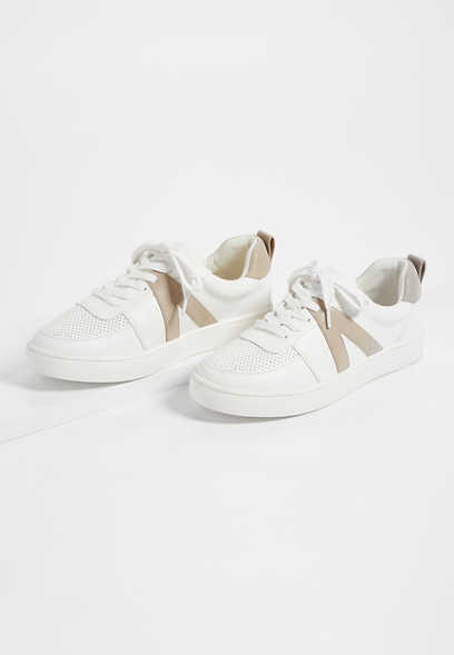 Shelby White Lace Up Sneaker