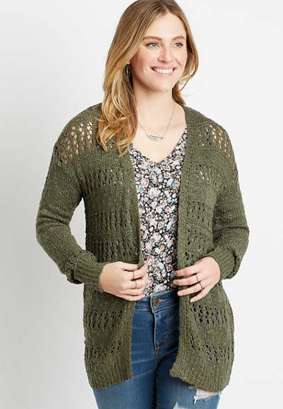 Solid Open Stitch Cardigan